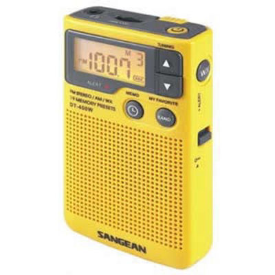 Sangean DT-400W AM/FM Digital Weather Alert Pocket Radio, NOAA Weather/Emergency Alert