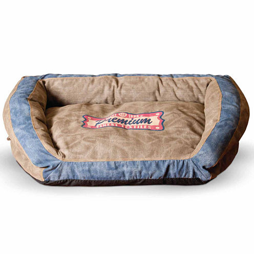 K & H Manufacturing Vintage Bolster Pet Bed