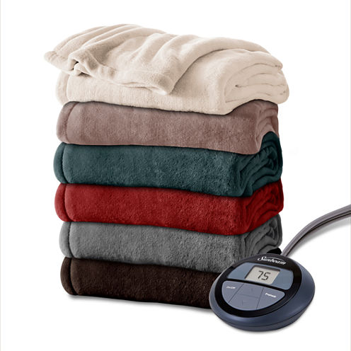 Sunbeam Heated Microplush Electric Blanket Jcpenney