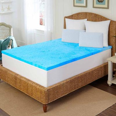 "Arctic Sleep™ by Pure Rest™ 2"" Marbleized Gel Memory Foam Topper"