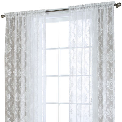 Brittany Rod-Pocket Sheer Curtain Panel