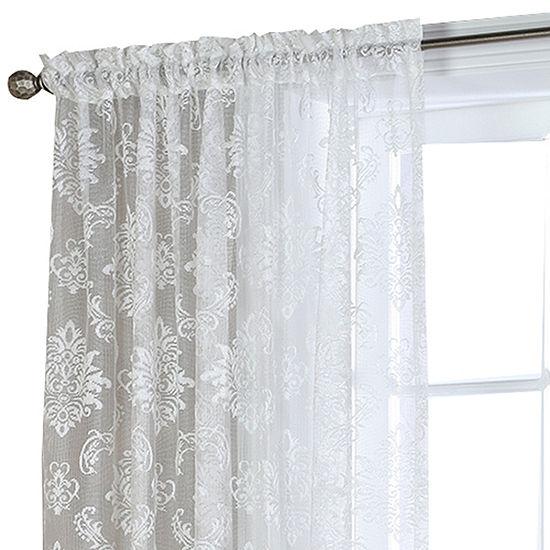 Brittany Rod-Pocket Sheer Curtain Panel