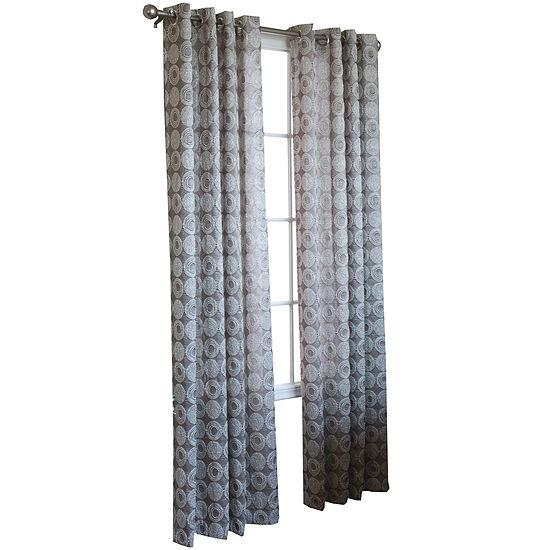 Mayan Geometric Grommet-Top Curtain Panel