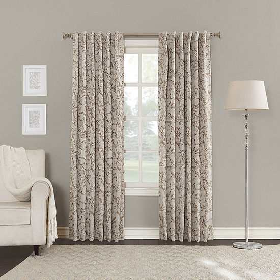 Sun Zero Kamila Energy Saving Blackout Back-Tab Curtain Panel
