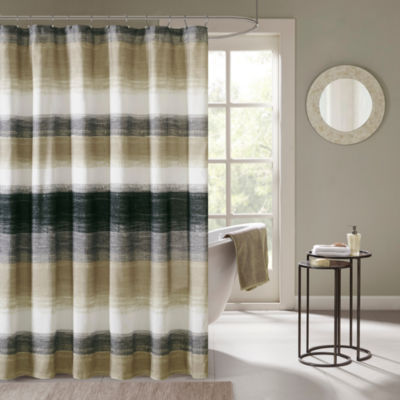 Madison Park Barret Printed Shower Curtain