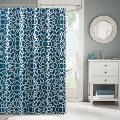 Madison Park Elena Jacquard Shower Curtain