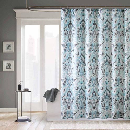 Madison Park Palermo Microfiber Shower Curtain