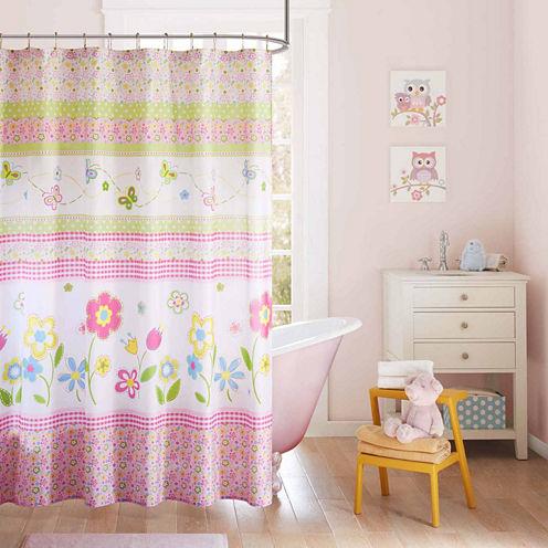 Mi ZoneFlower Power Shower Curtain