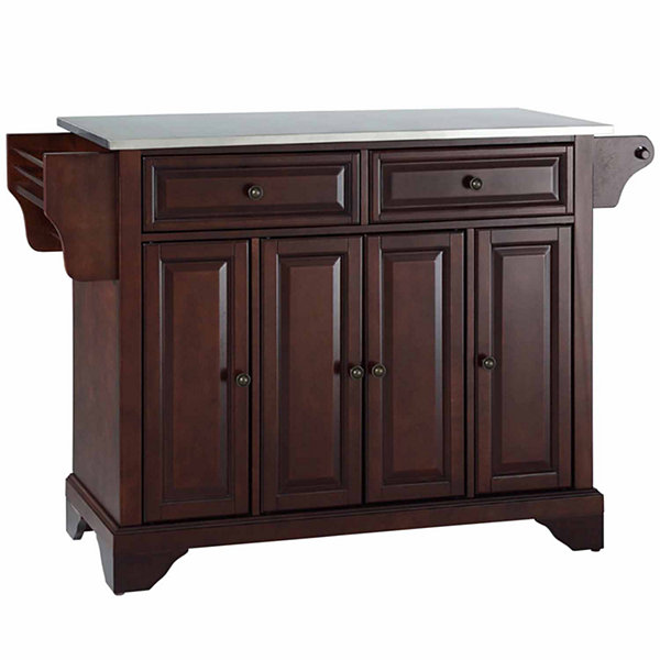 Chatham Stainless Steel Top Kitchen Island Jcpenney