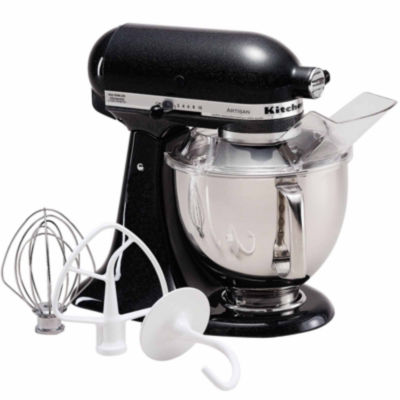 KitchenAid® Artisan® Series 5 Quart Tilt-Head Stand Mixer, Caviar  KSM150PSCV