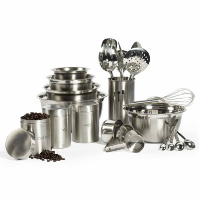 Philippe Richard® 3-pc. Stainless Steel Canister Set with Lids