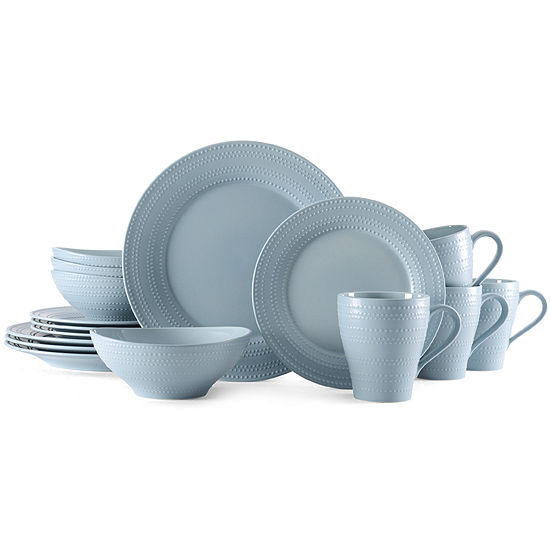 Mikasa Ryder Blue 16 Pc Dinnerware Set
