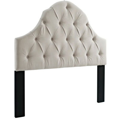 Home Meridian Tufted Round Top Upholstered Headbaord