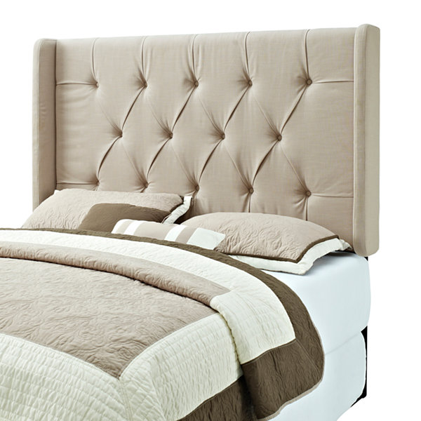 Tufted Upholstered Panel Headboard with Wings