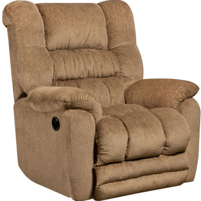 Contemporary Temptation Microfiber Power Reclinerwith Push Button