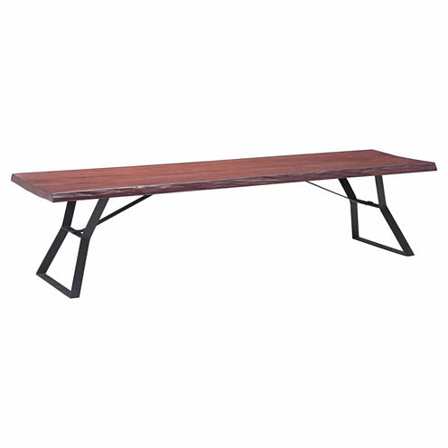 Zuo Modern Omaha Distressed Cherry Oak Coffee Table