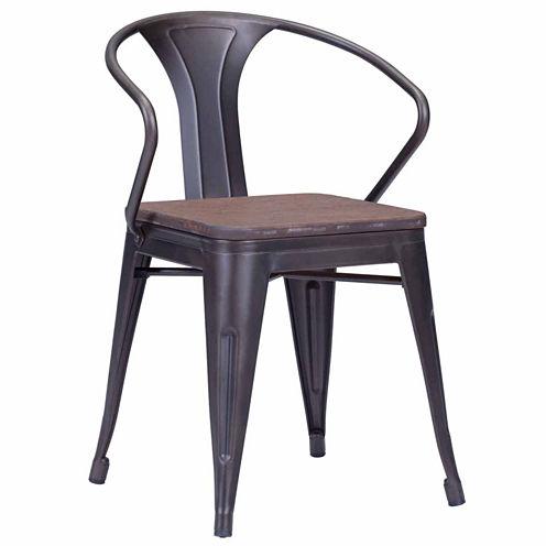 Zuo Modern Helix Elm Wood Top 2-pc. Side Chair