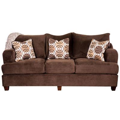 Ilyana Contemporary Fabric Pad-Arm Sofa