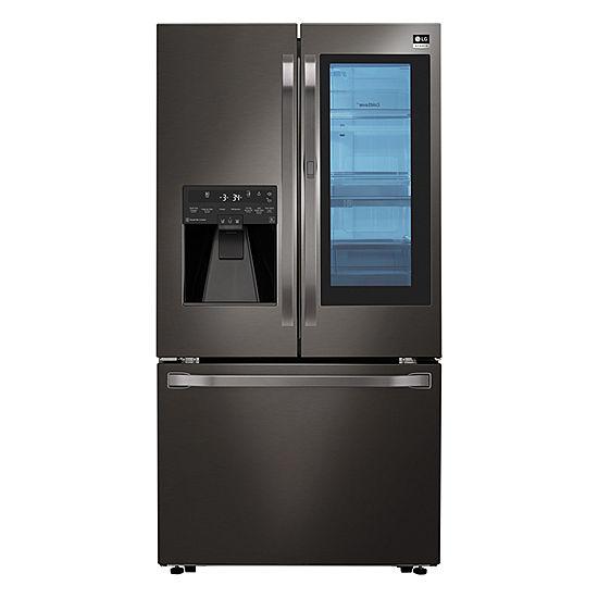 Image result for 8. LG 21.7 Cu. Ft. Side by Side Instaview Door-in-Door Counter-Depth Smart Wi-Fi Refrigerator.