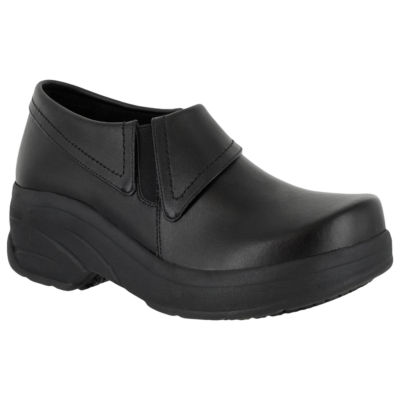 Easy Works By Easy Street Womens Assist Clogs Elastic Round Toe