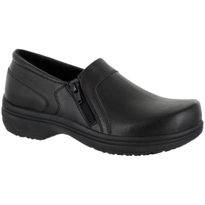 Easy Works By Easy Street Womens Bentley Clogs Zip Round Toe