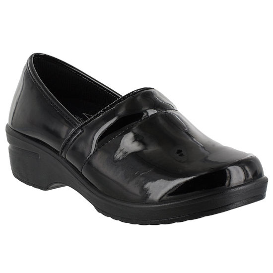 Easy Works By Easy Street Womens Lyndee Clogs Elastic Round Toe