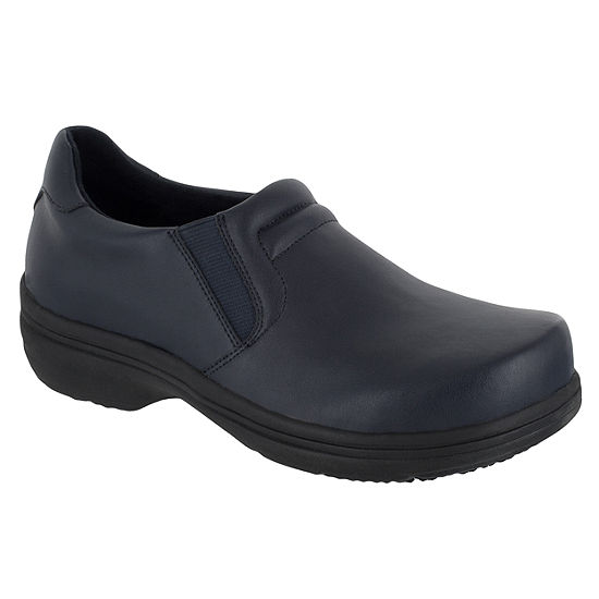 Easy Works By Easy Street Womens Bind Clogs Elastic Round Toe