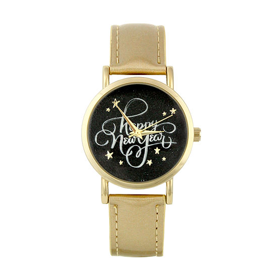 Mixit Womens Gold Tone Strap Watch-Pts5074ny