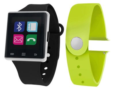 Itouch Air Interchangeable Band Set Black / Lime Unisex Multicolor Smart Watch-Jcp2721s724-339