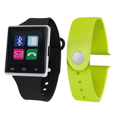 Itouch Air Interchangeable Band Set Black / Lime Mens Multicolor Smart Watch-Jcp2721s724-339, One Size