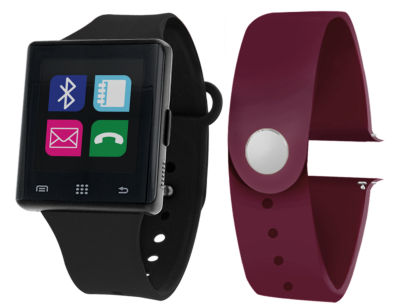 Itouch Air Interchangeable Band Set Black / Maroon Unisex Multicolor Smart Watch-Jcp2722b724-Blp