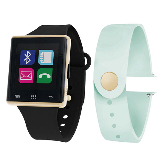 Itouch Air Interchangeable Band Set Black / Mint Womens Multicolor Smart Watch-Jcp2724g724-Blm