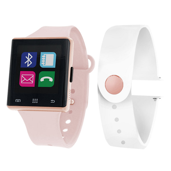 Itouch Air Activity Tracker & Interchangeable Band Set Pink/White Smart Watch-Jcp2725rg724-694