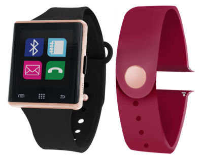 Itouch Air Interchangeable Band Set Black / Maroon Unisex Multicolor Smart Watch-Jcp2726rg724-Bme