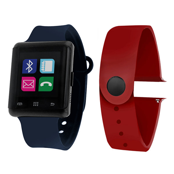 Itouch Air Activity Tracker & Interchangeable Band Set Blue/Red Multicolor Smart Watch-Jcp5553b724-Nab
