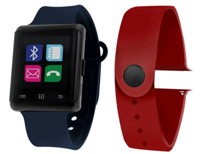 Itouch Air Activity Tracker & Interchangeable Band Set Navy/Burgundy Multicolor Smart Watch-Jcp5553b724-Nab