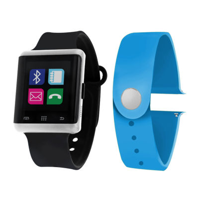 Itouch Air Interchangeable Band Set Black / Light Blue Unisex Multicolor Smart Watch-Jcp5554s724-Btu