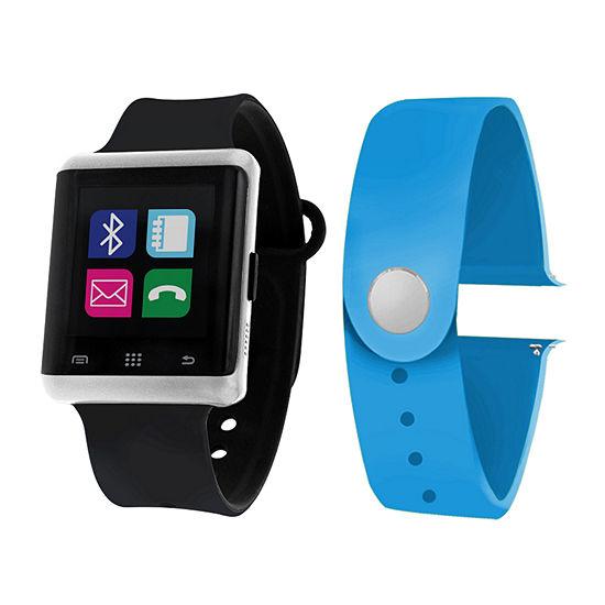 Itouch Air Interchangeable Band Set Black / Light Blue Unisex Multicolor Smart Watch-Jcp5554s724-Btu