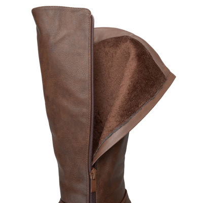 Journee Collection Womens Marcel Riding Boots Block Heel Zip