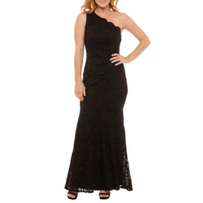 One By Eight One Shoulder Sleeveless Evening Gown