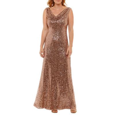 Jackie Jon Sleeveless Evening Gown