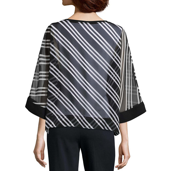 Worthington 3/4 Sleeve Knit Blouse - Tall