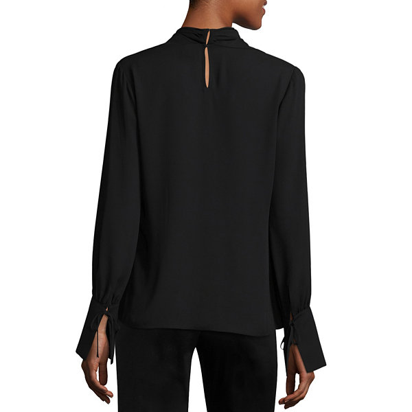 Worthington Long Sleeve Blouse - Tall