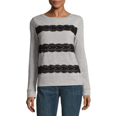 St. John's Bay Long Sleeve Sweatshirt-Talls