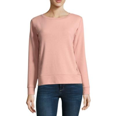 St. John's Bay Long Sleeve Sweatshirt - Tall