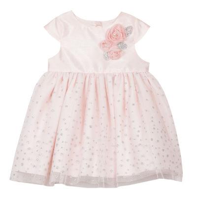 Marmellata Short Sleeve Confetti A-Line Dress - Baby Girls