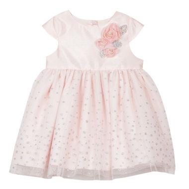 Marmellata Short Sleeve Confetti A Line Dress Baby Girls