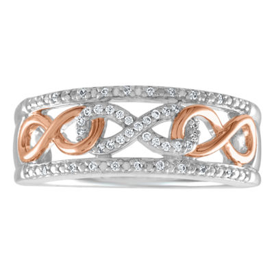 Womens 1/4 CT. T.W. White Diamond Sterling Silver Band