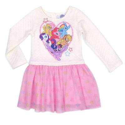 Long Sleeve My Little Pony A-Line Dress - Toddler Girls