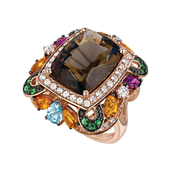 Grand Sample Sale™ By Le Vian® Chocolate Quartz® 14K Strawberry Gold® Ring